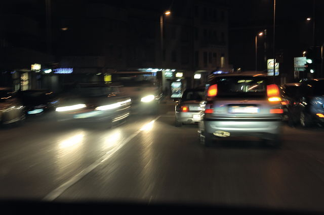 driving your car in the dark