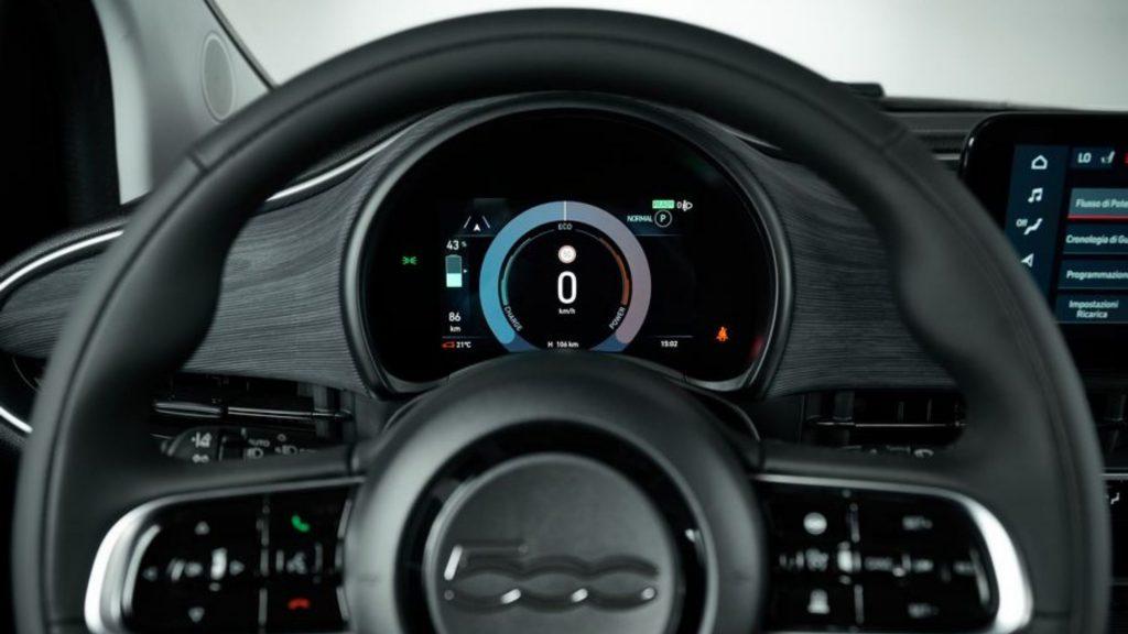 Fiat 500 electric steering wheel