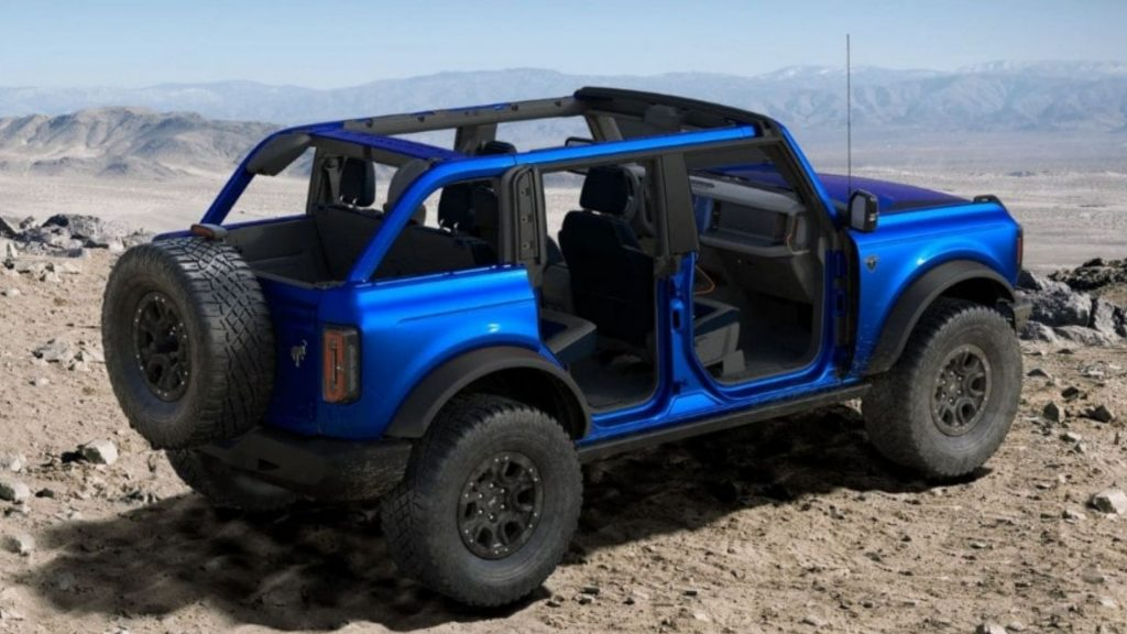 Ford Bronco Open the US configurator