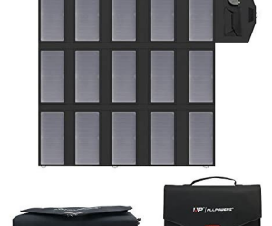 Solar Car Battery Charger - ALLPOWERS 100W Portable Foldable Solar Panel Charger