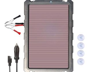 Solar Car Battery Charger -POWOXI Solar Car Battery Trickle Charger