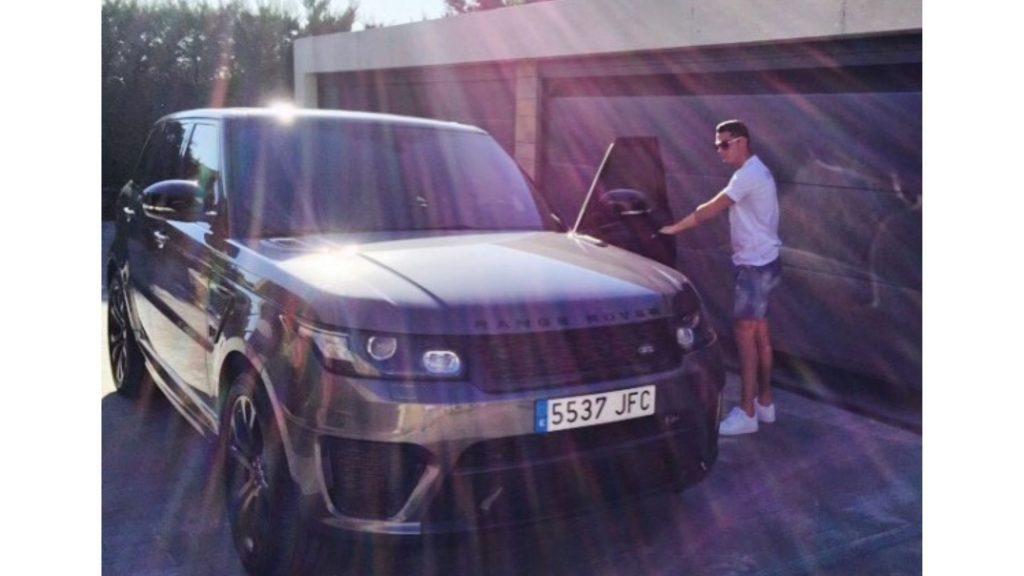 Cristiano Ronaldo cars Range Rover Sport