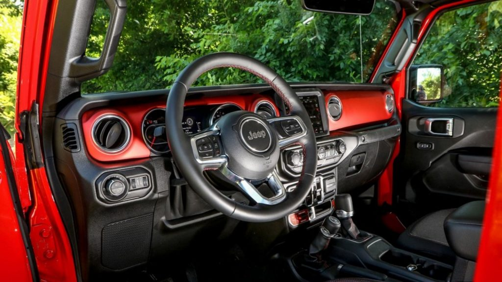 Inside Jeep Gladiator JT
