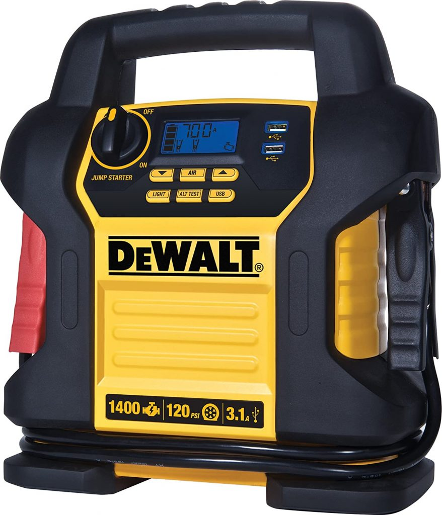 DEWALT DXAEJ14 Portable Jump Starter With Air Compressor