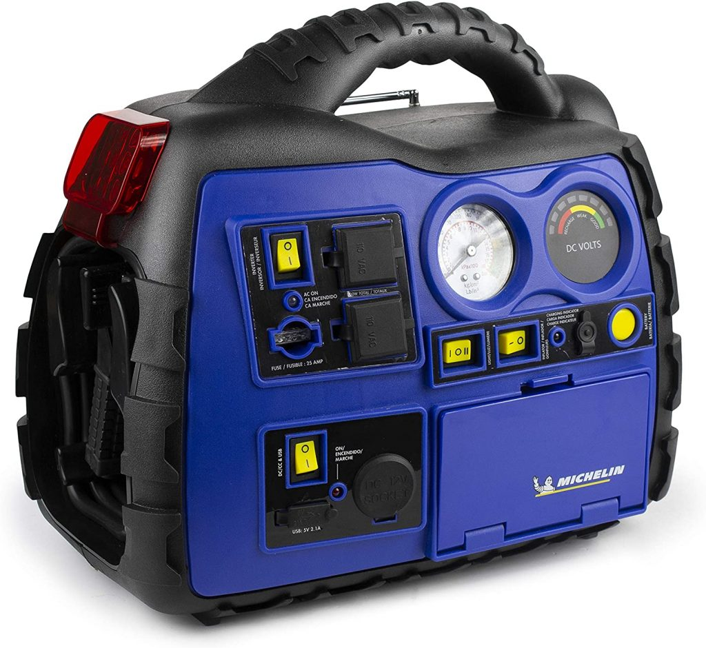 MICHELIN ML0728 Portable Jump Starter With Air Compressor