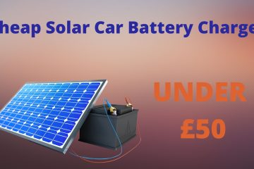 Cheap Portable Solar Car Battery Charger Under 50